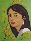 Muse in Spring Broom, oil on canvas, 20x16in.