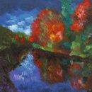 Tweed in Autumn, oob, 50x50cm. SOLD