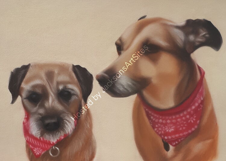 """""""Woolie and Molly"""" 13 x 9 in"""