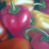 """Peppers 9"""" x 7"""" Pastel"""