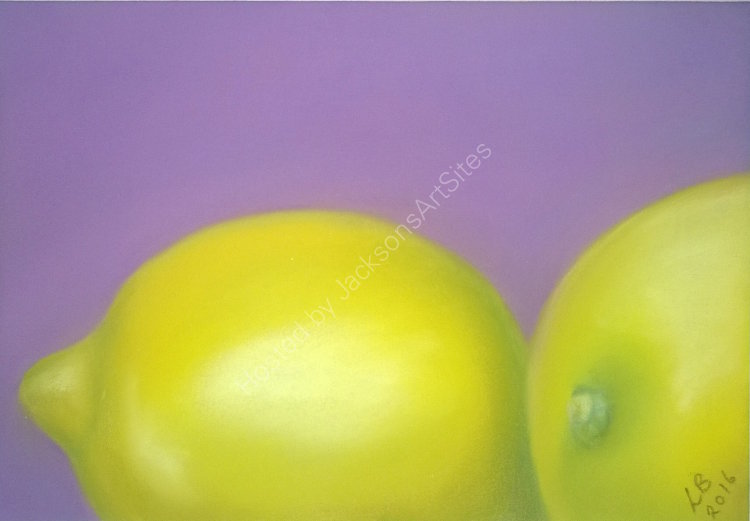 Two Lemons 6 x 4 in (in a 10 x 8 in black frame)  £50