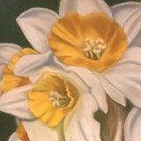 "Daffodils II 9"" x 9"" (in ornate gilt frame size 12"" x 12"") Pastel - £120"
