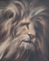 "Lion King (Oil On Canvas, size 16"" x 20"" unframed)"