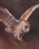 """Silent Hunter SOLD (Oil on canvas, size 20"""" x 16"""" unframed)"""
