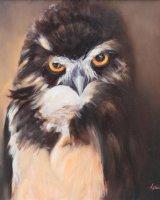 "Night Watch (Oil on Canvas size 20"" x 20"" unframed)"