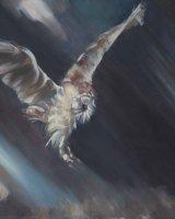 "Silent Hunter 1 (Oil on canvas, size 24"" x 20"" unframed)"