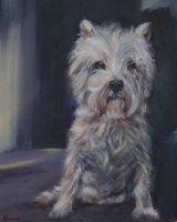"Patience (Oil on canvas, size 20"" x 16"" unframed)"