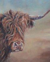 """Curiosity (Oil on canvas, size 24"""" x 20"""" unframed)"""