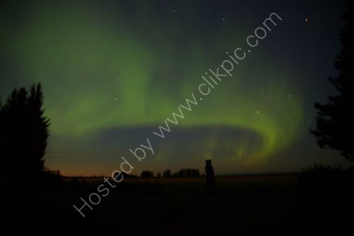 The Aurora Borealis from Lake Clark National Park