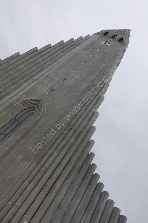 the famous Hallgrimskirka Cathedral  in Reykjavik - Iceland