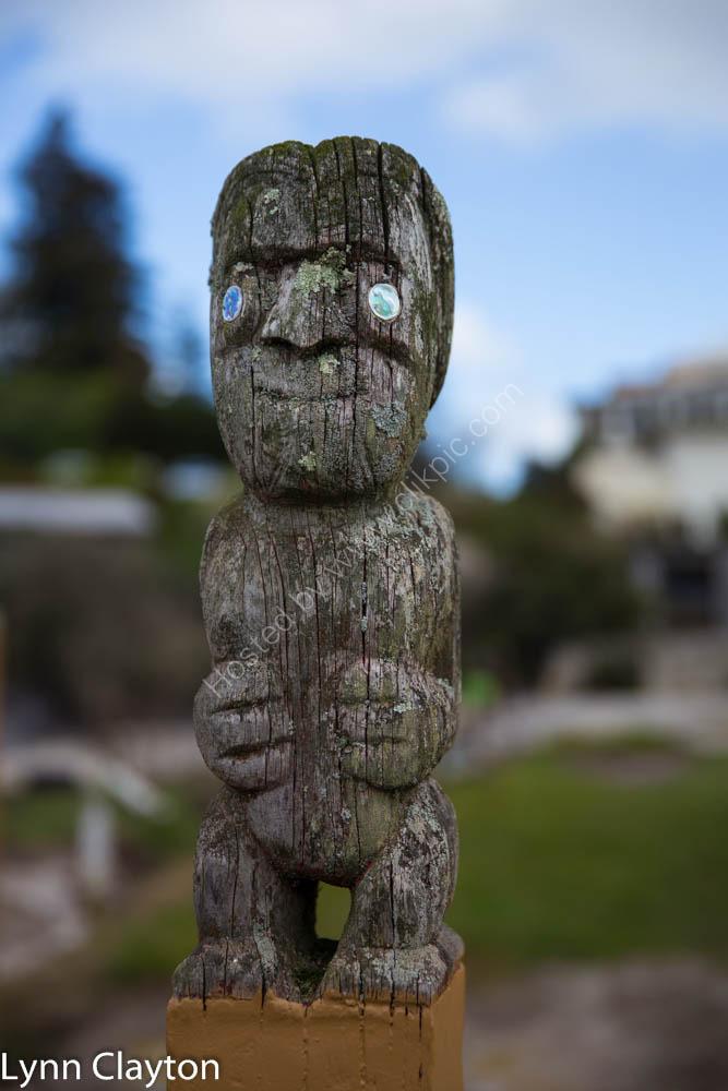 Maori carving at Ohinemtu, Rotorua