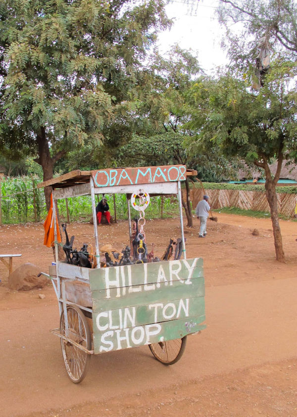 Roadside stall - Hillary Clinton shop