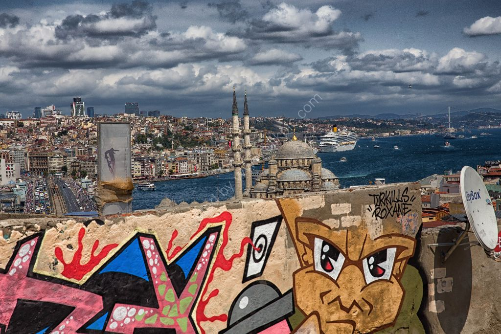 View of Istanbul and the Bosphorus