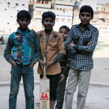 young cricketers in Varanasi