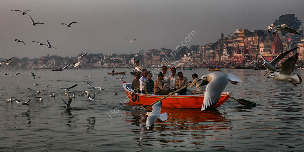 Sacred Ganges River in Varanasi