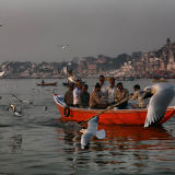 Sacred Ganges River in Varanasi