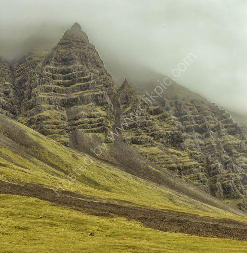 Iceland landscape near Hali County Hotel