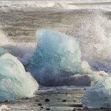 an impressive Iceberg    - on the beach at Jokulsaron, Iceland