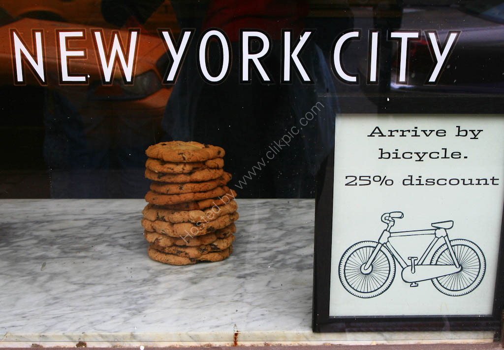 New York City  - bakery  shop sign
