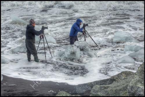 crazy photographers - Iceland Jokulsarlon