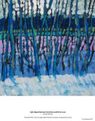 light slipped between the birches and fell on snow