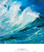 the waves cavorted in the blue-green sea
