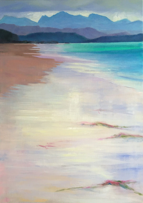 glassy wave wash, Big Sand PRINT 36x27cms