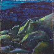 light stroked the green rocks, Mellon Charles