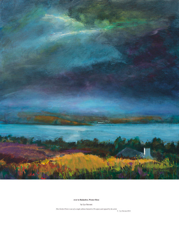 over to Badachro, Wester Ross PRINT 27x27cms