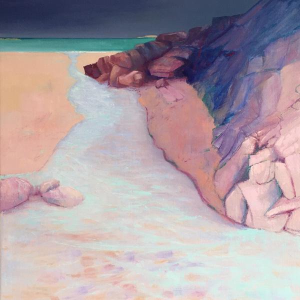 pink rock, blue runnel, Firemore
