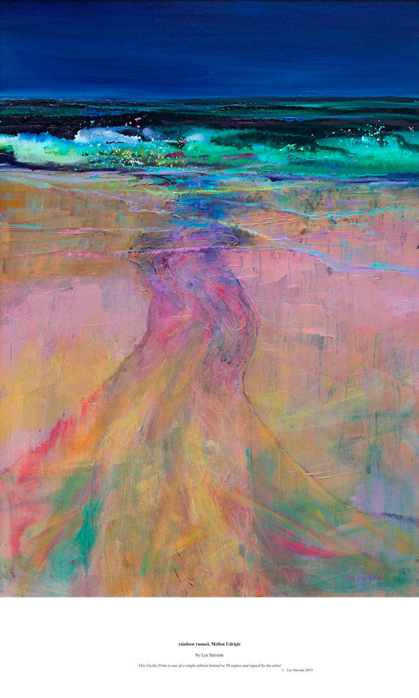 rainbow runnel, Mellon Udrigle PRINT 38x27cms