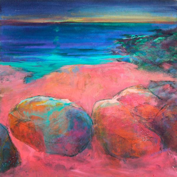 red soaked rocks, Gairloch