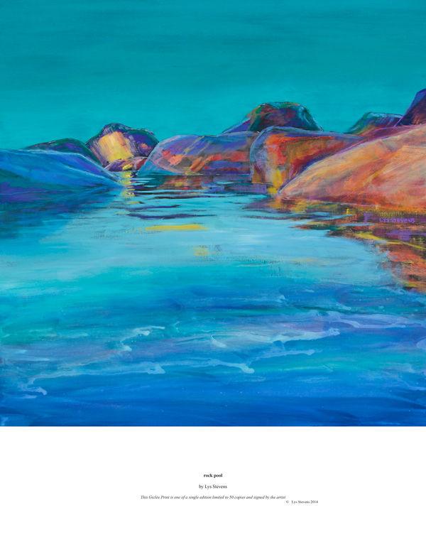 rock pool PRINT 27x27cms