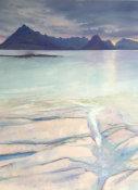 sea stole in among pink rock, Elgol, Skye