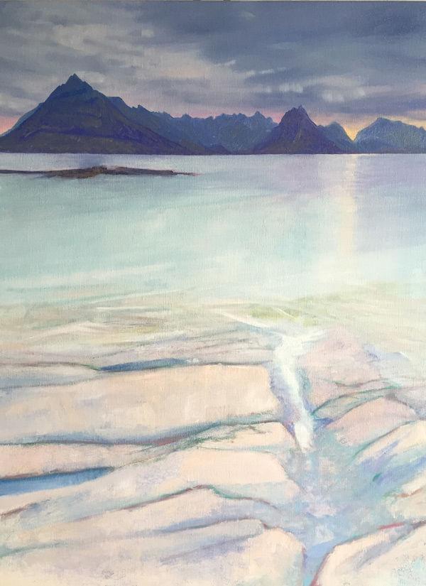 sea stole in among pink rock, Elgol, Skye PRINT 36x27cms