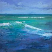 skittish waves on mauve-blue and green, Firth of Forth