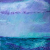 storm sky dwarfed boats and light