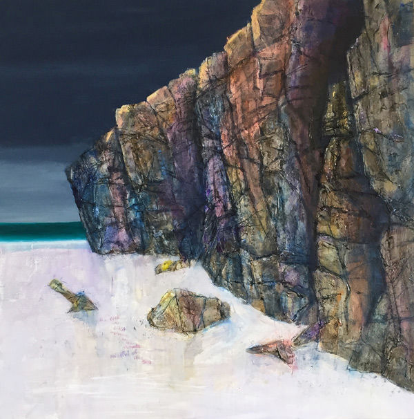the rock was impervious to the elements, mindful of the sea, Sanna PRINT 27x27cms