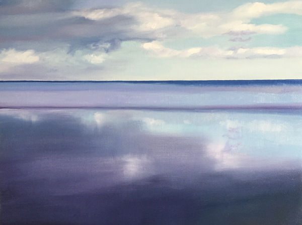 the sea made a sand mirror, Sango Bay, Sutherland