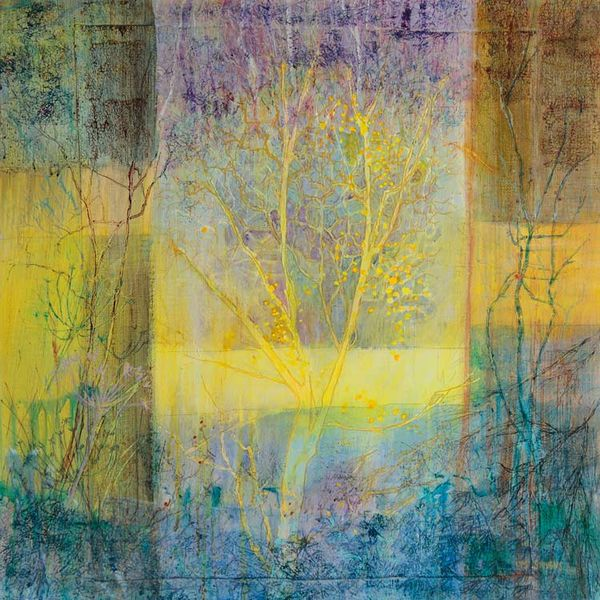 thoughts on a yellow tree PRINT 27x27cms