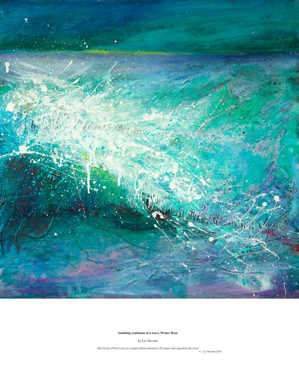tumbling confusion of a wave, Wester Ross PRINT 27x27cms