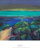 vibrant night shore, Gairloch