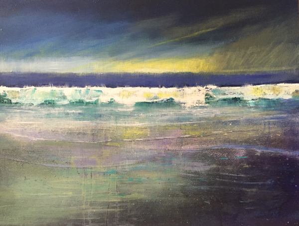 wet sky, wet shore, wet wave