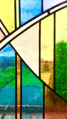 Stained Glass Panel 25 x 40cm