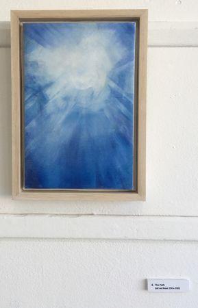 'The Path' oil on linen 25 x 35 cm framed