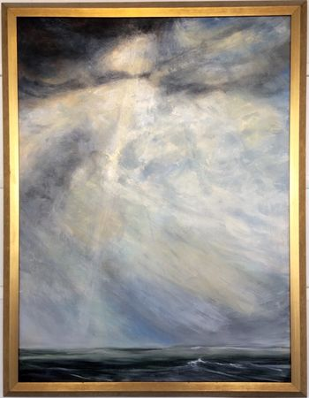 'Light over the Water' oil on linen 1350 x 1440 framed