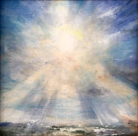 'Winter Sunlight' oil sketch 23 x 23cm