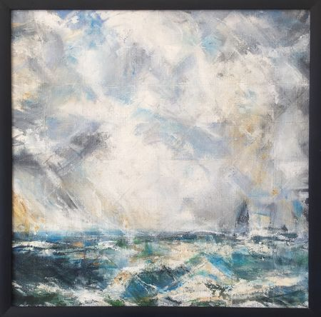 'Abstract Seascape' oil on linen 50x50cm