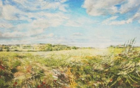 'From Thornhill' (oil) 0.7 x 1.2m