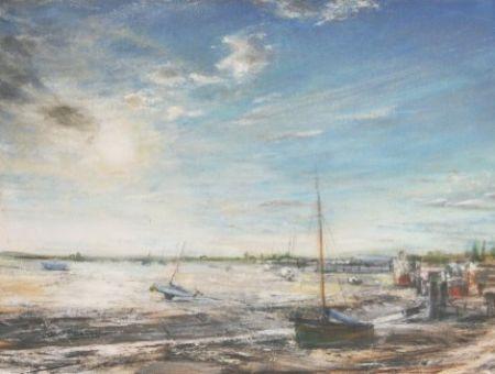 'Leigh on Sea' framed oil painting 42 x 30 cm